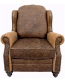 embossed leather recliner