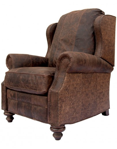 fine western style leather recliner