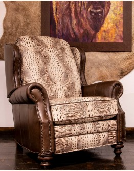 Cowboy Ivory Reverse Recliner