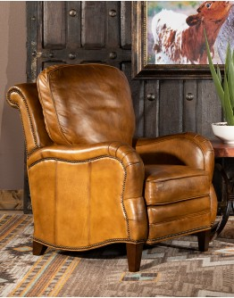 Dutton Saddle Leather Recliner