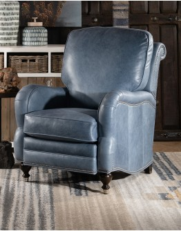 Dutton Slate Leather Recliner