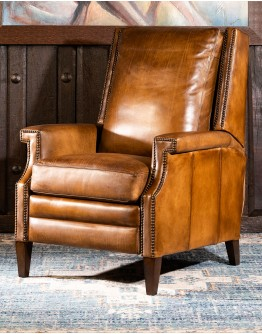 Ghent Saddle Leather Recliner