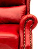 red leather wingback recliner