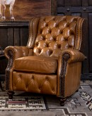 western style leather recliner