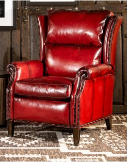 Oakley Red Leather Recliner