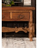 rustic mesquite wood entry table