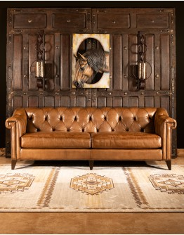 Avondale Leather Chesterfield Sofa