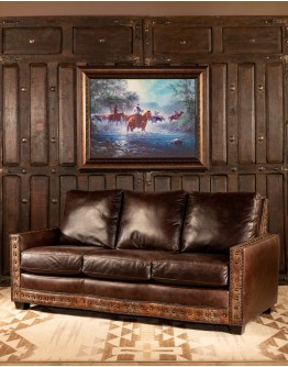 Boone Leather Sofa