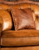 large curved leather sofa,curved sectional sofa made with saddle leather,tufted curved leather sofa