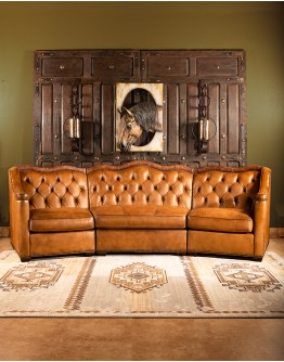 Branson Tufted Leather Sofa