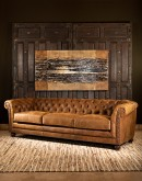 distressed vintage leather chesterfield sofa