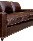 modern rustic style leather sofa with brompton oak leather
