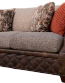 high end fabric and leather sofa