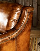 modern rustic style leather sofa,modern rustic sofa with saddle leather