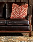 fine western leather sofa