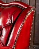 high end red leather sofa with tufted back,red leather chesterfield sofa