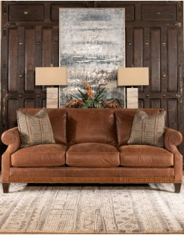 Roanoke Leather Sofa