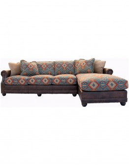 Sun Valley Teal Sofa w/ Chaise