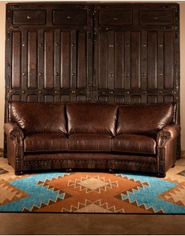 Texas Curved Leather Sofa