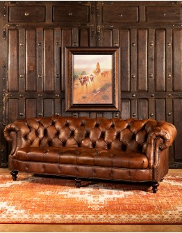 Winchester Tufted Leather Sofa