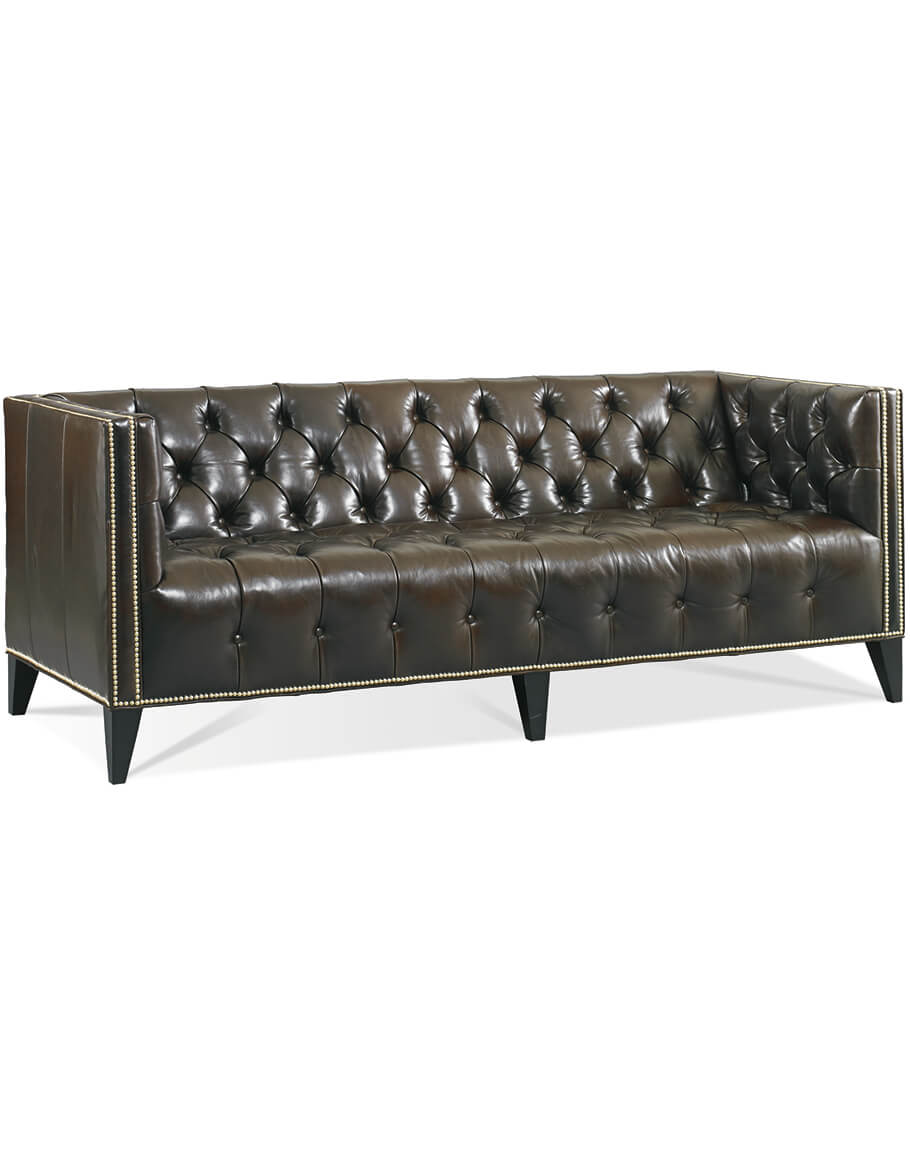 - Winston Tufted Sofa Fine Leather Furniture