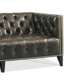 modern rustic style tufted leather sofa