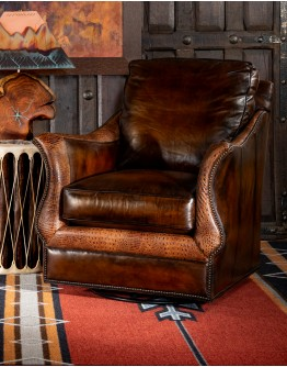 Calexico Leather Swivel Glider