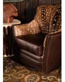 swivel chair with axis deer hide