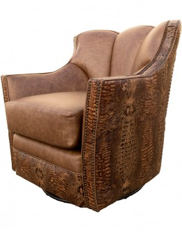 Puma Copper Croc Swivel Glider Chair