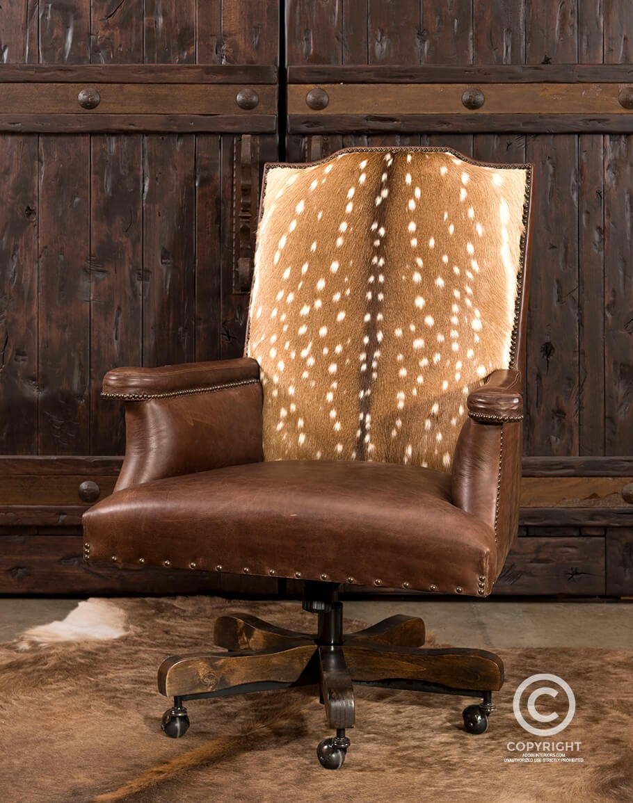 Axis Hide Desk Chair Rustic Ranch Office Furniture