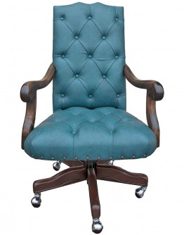 Chisum Saloon Turquoise Desk Chair