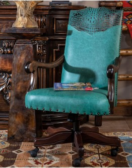 Chisum Turquoise Desk Chair
