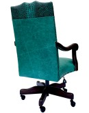 turquoise leather office chair,fine western office chair