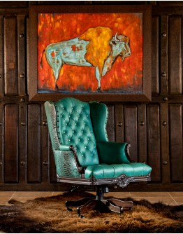 Chisum Turquoise Executive Desk Chair