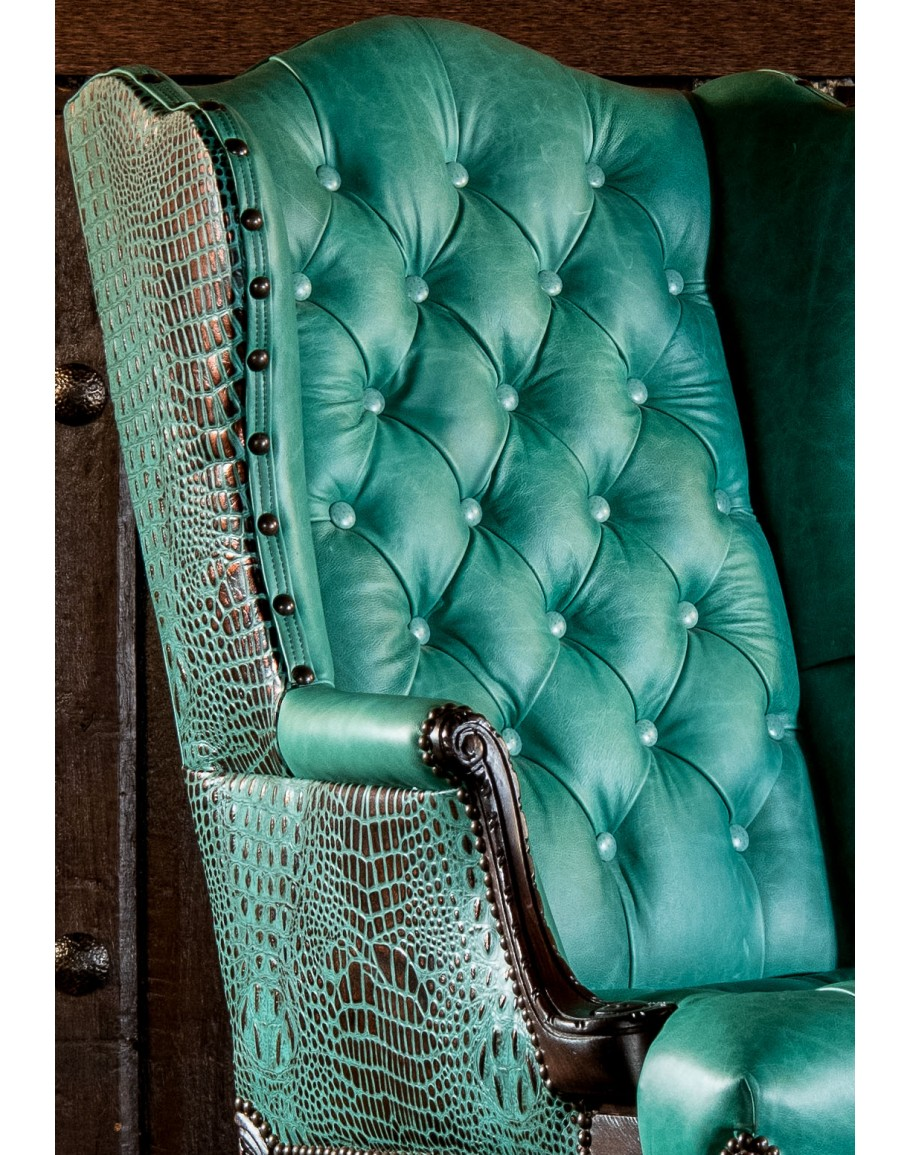 Turquoise swivel chair office